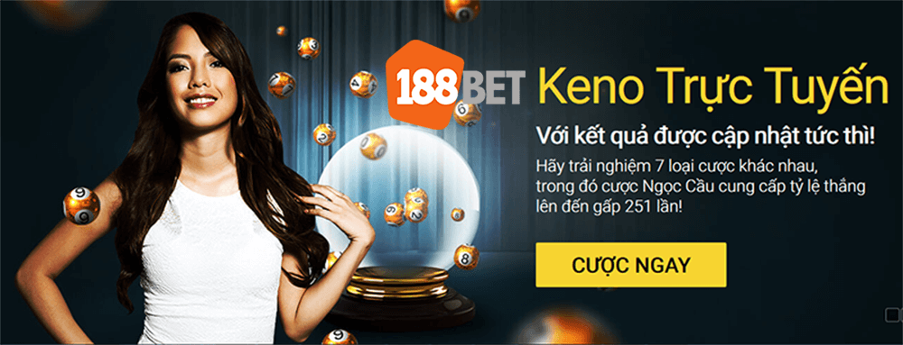 Attractive Keno betting at 188BET